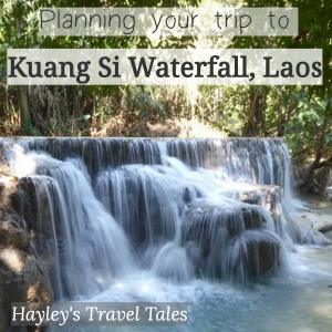 Planning your trip to the Kuang Si waterfall in Luang Prabang - Hayley's Travel Tales Thinking of visiting Luang Prabang in Laos but don't know what to do there? Read on to find out about the Kuang Si waterfall, how to get there and what you can see and do too. Pin this post for help in planning your trip to Laos!